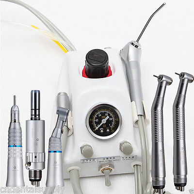 Dental Portable Turbine Unit Sn4 High Slow Speed Handpiece Kit 4-holes Nsk
