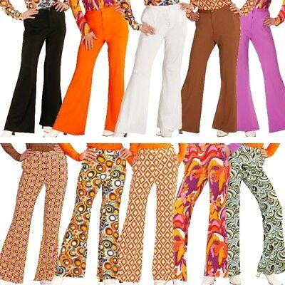 Schlaghose Damen Hose - Kostüm 60er 70er Hippie Schlagermove 36 38 40 42 44 - Hippie Kostüm Hose