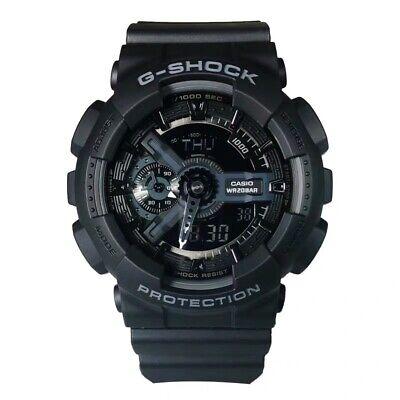 NEW G-Shock GA110-1B Men's Watch Black Dial Resin Strap Chronograph
