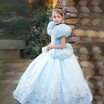Kids Girl Cinderella Costume Princess Dress Halloween Cosplay dress Xmas Gift (Cinderella Dress Halloween)