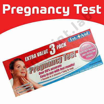 3 Pack Ultra Early Home Urine Pregnancy HCG Accurate Test Kits