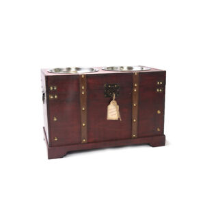 Pet Feeder Cherry - King Charles Large Chest Trunk