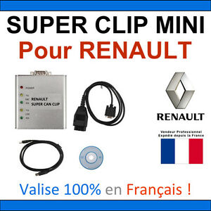 super clip mini valise renault multimarques obd2 auto pro com can clip ebay. Black Bedroom Furniture Sets. Home Design Ideas