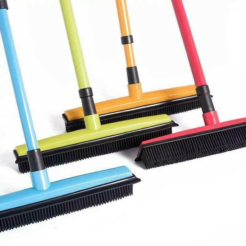 Rubber Broom Hair Removal Bristles Sweeper Squeegee Scratch