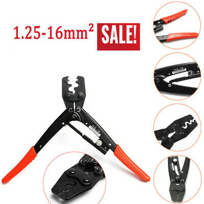 Hs-16-6awg 1.25-16mm Cable Lug Crimper Crimping Tool Bare Terminal Wire Plier