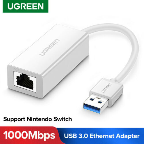 UGREEN White USB 3.0 Gigabit Ethernet Adapter USB to RJ45