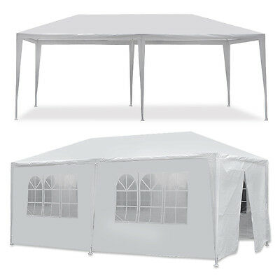 - 10 x 20' Outdoor Gazebo Party Tent with 6 Side Walls Wedding Canopy Cater Events