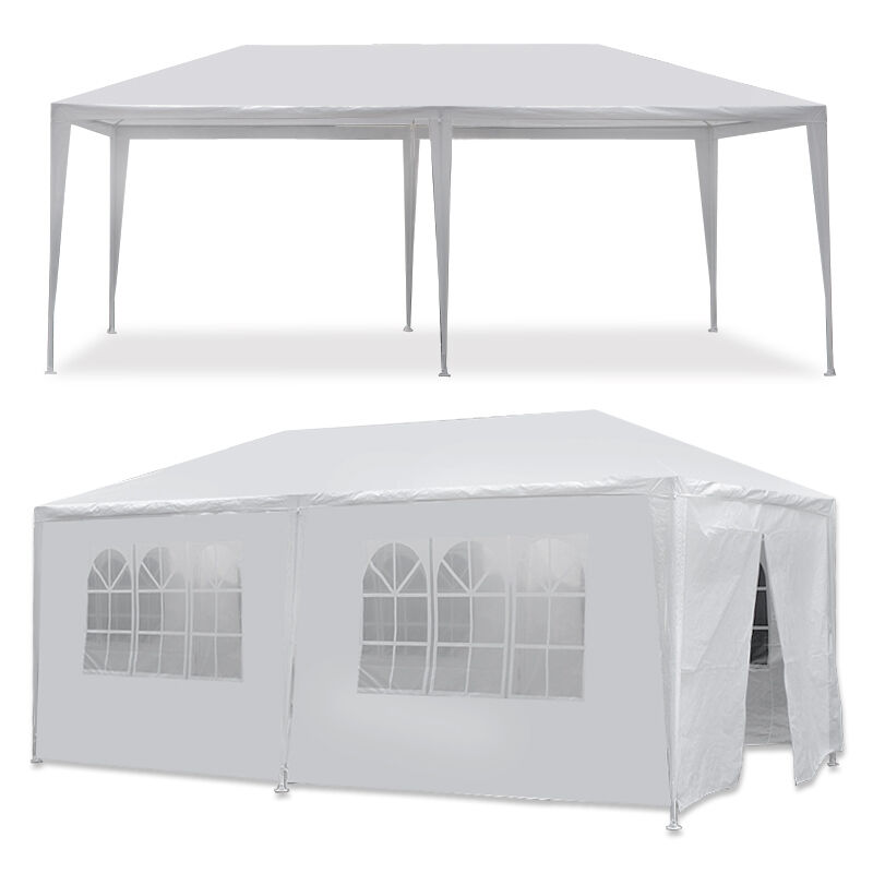 10 x 20′  Gazebo Party Tent with 6 Side Walls Wedding Canopy Cater Events Outdoo Awnings & Canopies