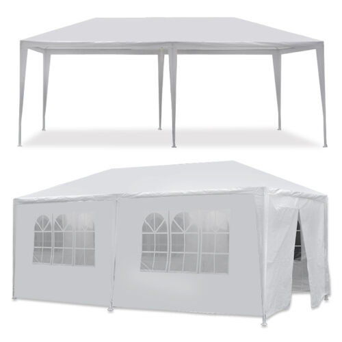 10 x 20′ Outdoor Gazebo Party Tent with 6 Side Walls Wedding Canopy Cater Events Awnings & Canopies