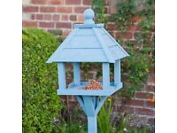 Blue Wooden Bird Table (Brand New Not Used)