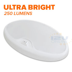 LED 12V Bright Pancake Light RV Camper Trailer Boat Interior Ceiling Dome Light