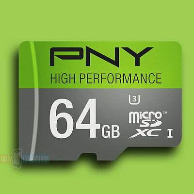 PNY High Performance 64GB High Speed MicroSDXC Class 10 UHS-I Flash Memory Card