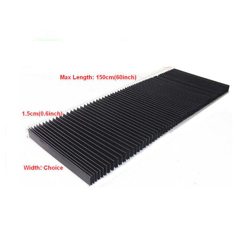 Flexible CNC Engraver Machine Protective Flat Accordion Bellows Cover Case 20cm