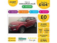 Land Rover Range Rover Evoque FROM £104 PER WEEK!