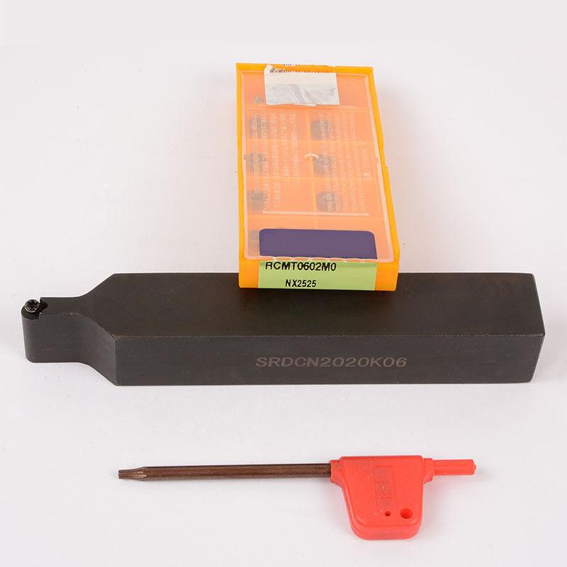 SRDCN2020K06 Lathe External Turning Tool Holder+10pcs RCMT0602MO  Carbide insert