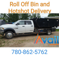 Roll of Dumpster and Hotshot Delivery