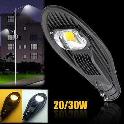 20W 30W LED Road Street Flood Light Industrial Lamp Outdoor Garden Yard 12V/110V