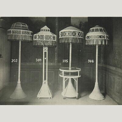 Hohmann, Oskar. Jugendstil - Korblampen und Korbmöbel um 1920