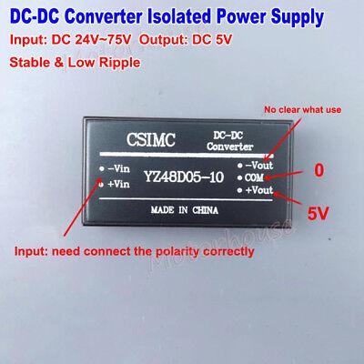 Dc-dc Buck Isolated Converter 24v72v 48v To 5v Step Down Power Supply Module