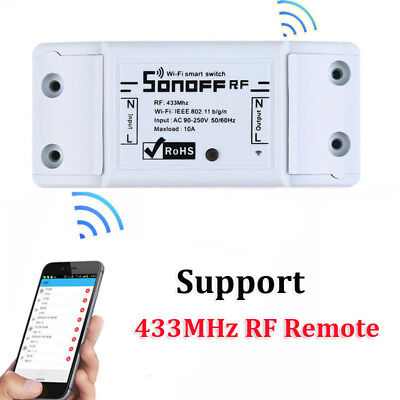 Sonoff RF WiFi Wireless Smart Home Automation 433Mhz RF Remote Switch Module