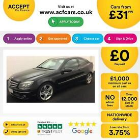 BLACK MERCEDES-BENZ CLC 220 2.1 CDI 1.6 SPORT SE Coupe AUTO FROM £31 PER WEEK