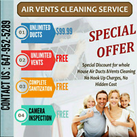 DUCT CLEANING ONLY $100 FLAT WITH UNLIMITED VENTS ! LIVE HEALTHY