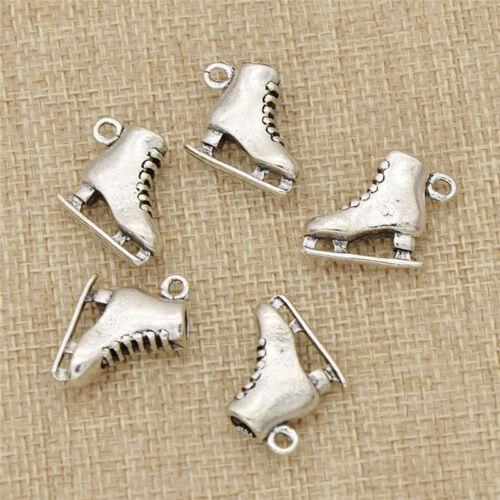 5pcs Metal Skating Shoes DIY Pendant Charm Fashion Jewelry M