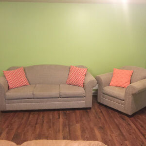 Small sofa and chair