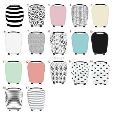 US Stretchy Multi-Use Car Seat Canopy Nursing Cover + Infant Baby Carrying Case