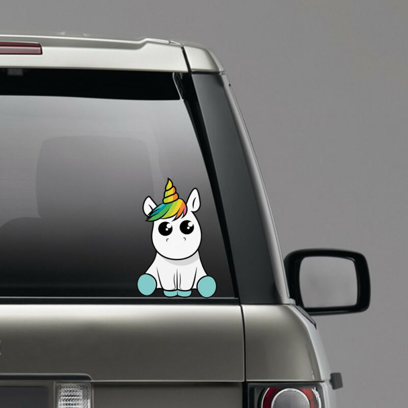 Lovely Unicorn Auto Sticker Car Styling Cartoon Funny Decals Vinyl Waterproof