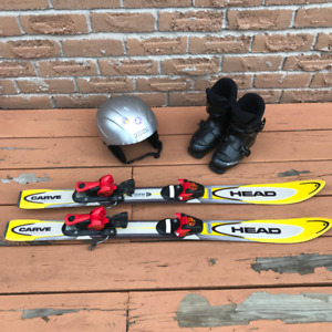 Skis, Boots and Helmet for 3-5 year old kid