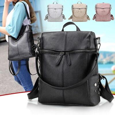 Leder Multi-tasche Rucksack (Damen Rucksack Wasserdicht PU Leder Multi Schoolbags Rucksack Schultertasche g/s)