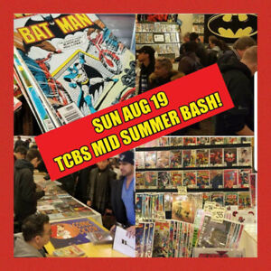 SUN AUG 19 TCBS Comic Book Show - Free Parking! New Old Comics!