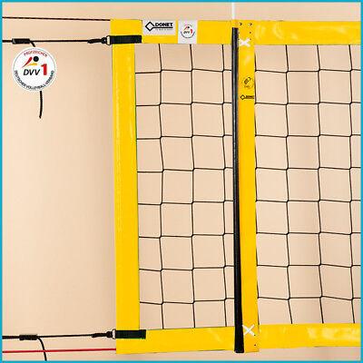 Beachvolleyball Beach Volleyball Turniernetz Netz DVV-1, 8,5 x 1,0 m, Gelb