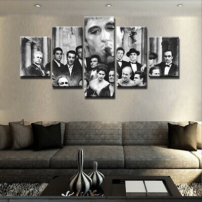 Al Pacino Gangsters Scarface Painting Picture Poster Canvas Wall Art Home Decor