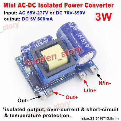 Mini Ac-dc Converter Ac110v 220v 230v To 5v 600ma Isolated Switching Transformer