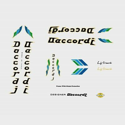 Daccordi Bicycle Decals, Stickers n.7 for sale  Shipping to United States
