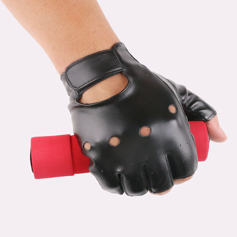 Outdoor Imitation Sports Big Cycling Half Finger Gloves Children Weeks PU