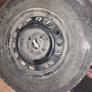 Set of tires with rims must go today 50$! Kitchener / Waterloo Kitchener Area image 1