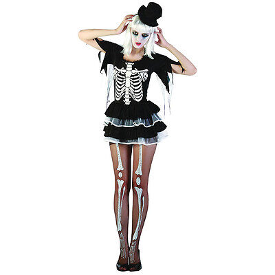 Schwarzes Kleid Für Halloween-kostüme (schwarz # Tutu Skelett Kleid für Halloween Party Erwachsene Einheitsgröße Kostüm)