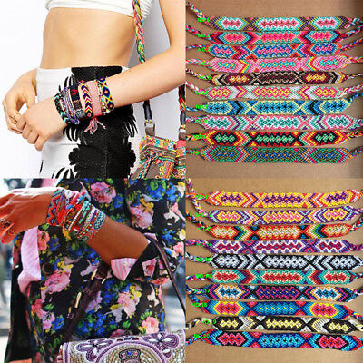 1pc Handmade Nepal Woven Friendship Bracelet Braided Wristband Women Men Jewelry (Friend Ship Bracelets)