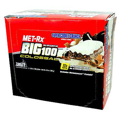MET-Rx Big 100 Colossal Super Cookie Crunch, 100 gram, 9 count 100 Colossal Bar Super Cookie