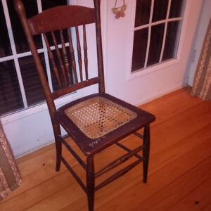 2 antique cane chairs $30 each or 2 for $50