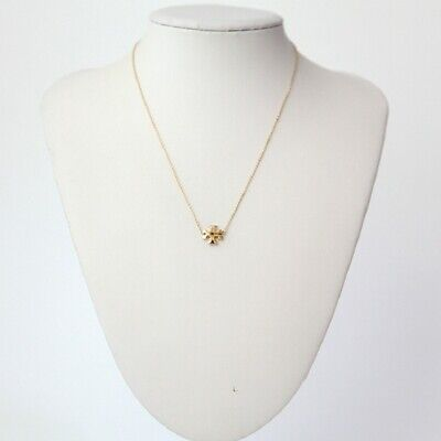 AUTH BNWT Tory Burch Gold Kira Pendant Necklace