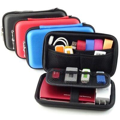 Nylon Reißverschluss Reise USB-Kabel Organizer Tasche Tablet Kasten Gadget Box Gadget Tasche