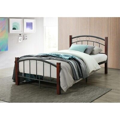 Hodedah Complete Metal Bed in Twin (Twin Complete Bed)