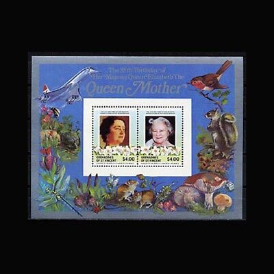 ST VINCENT GR, Sc #500a, MNH, 1985, S/S, Royalty, Queen Mother, CL050F