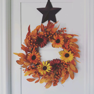 Fall thanksgiving holiday wreaths