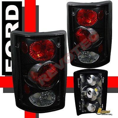 95-06 Ford Econoline E150 E250 E350 00-06 Excursion Black Tail Lights Lamps