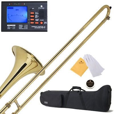 NEW GOLD BAND STUDENT Bb SLIDE TROMBONE+$39 GIFT